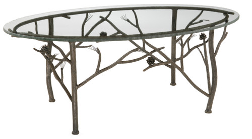 Evergreen Iron Oval Coffee Table