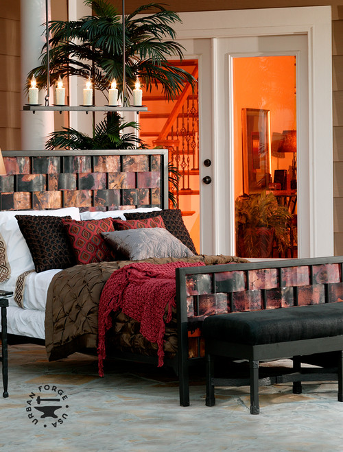 Westfork Wrought Iron & Copper Bed