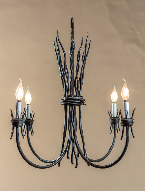 Black River Iron 4 Arm Chandelier