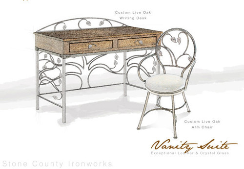 Custom Oak Grove Desk and Chair