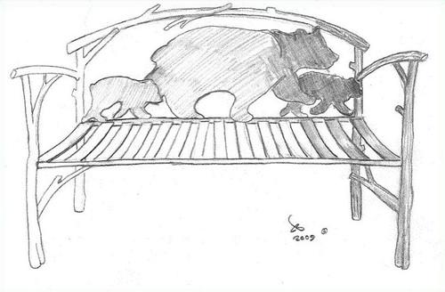 Custom Bear Bench