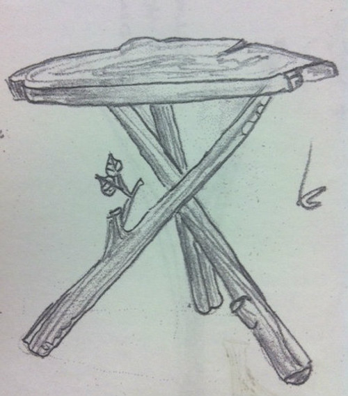 Custom Branch Tripod Table