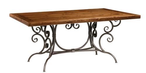 Magnolia Iron Dining Table 6 foot