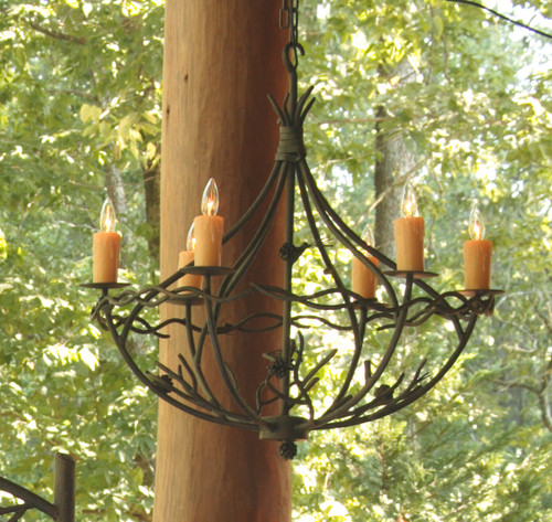 Evergreen Iron Chandelier 6 Arm