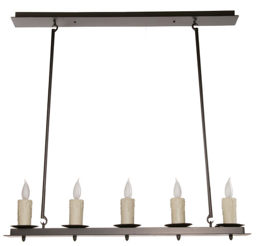 Waldron Linear 5 Light Iron Chandelier