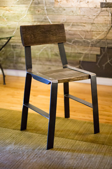 The 201 Forged Side Chair with Reclaimed Wood Seat