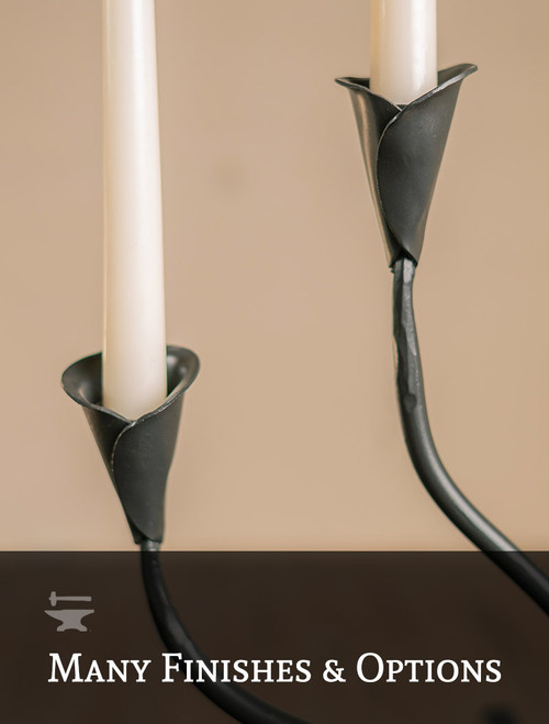 Ivy Wrought Iron Double Candle Holder
