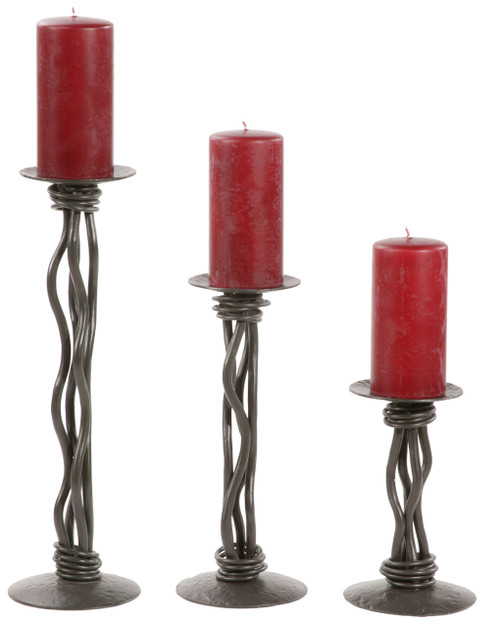 Black River Iron Renaissance Single Candleholder 12 inch