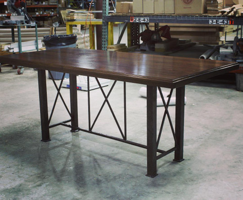Custom Forged Iron Dining Table