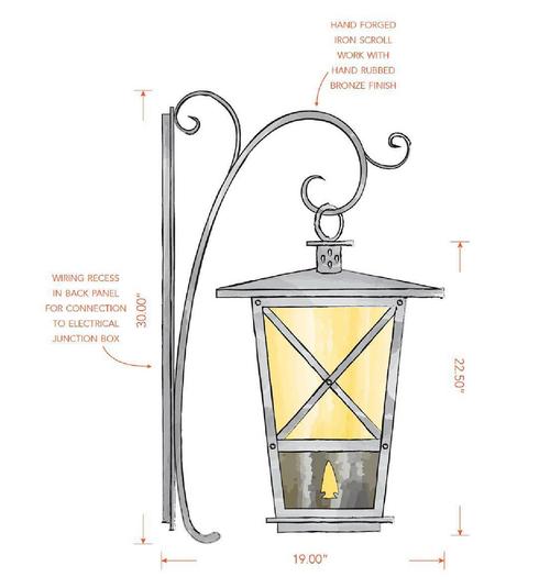 Custom Pendant Light with Scrollwork