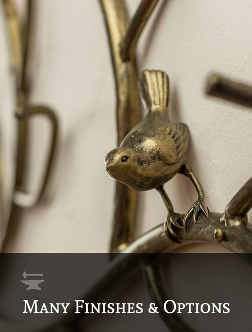 Greenwood Iron Wall Rack with Bird