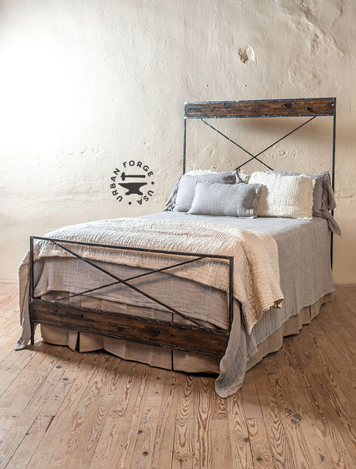 Meridian Hand-Forged Iron Bed