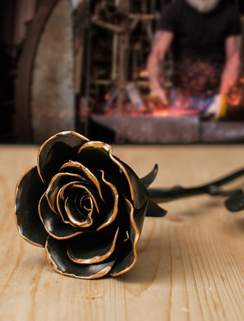 Hand-Forged Rose Keepsake