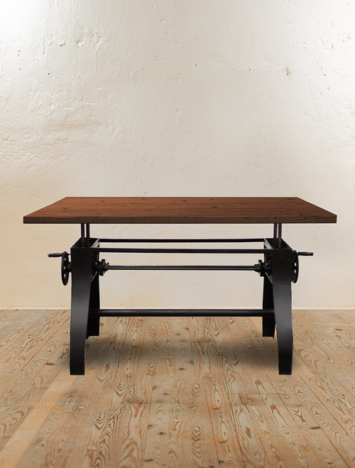 Station Crank Adjustable Dining Table