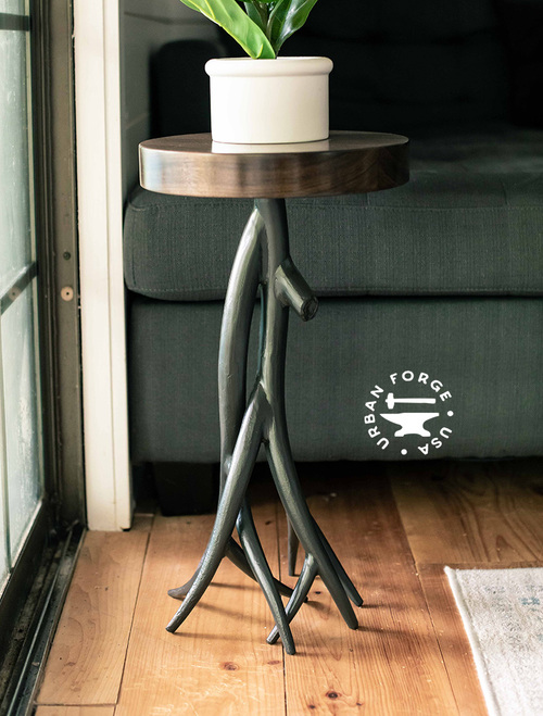 Driftwood Iron Accent Table
