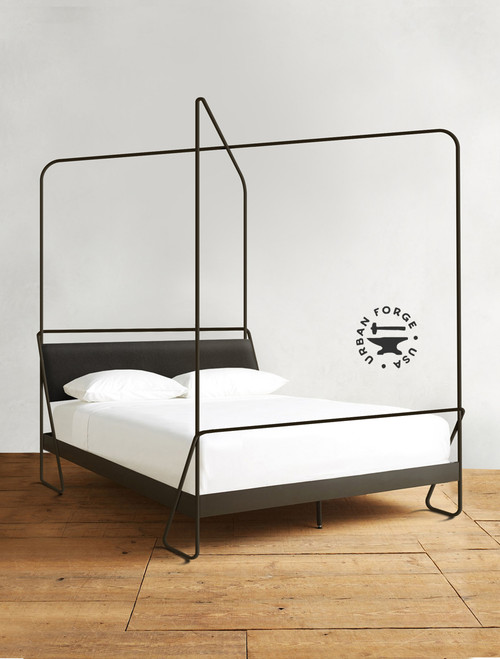 Alma Hand Forged Iron Canopy Platform Bed