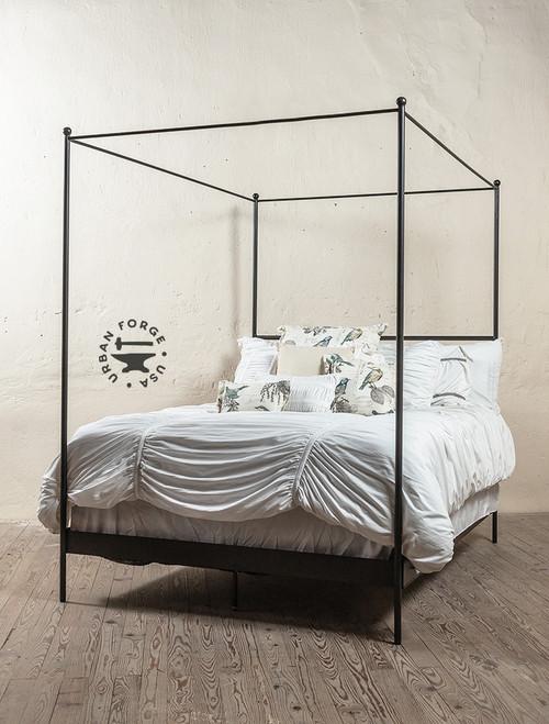 Corinth Iron Canopy Bed