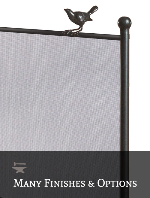 Custom Size Bird on a Wire Fire Screen