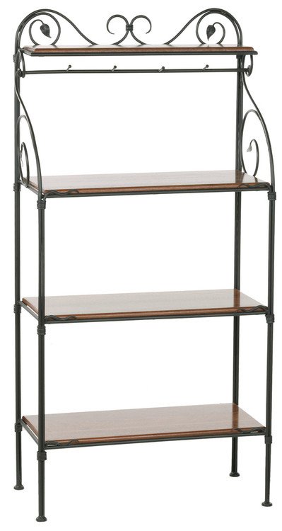 Evening Shade Iron Bakers Rack 4 Tier