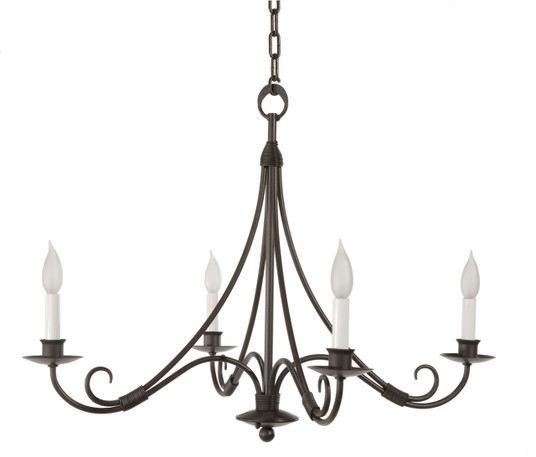 Mulberry 4 Arm Iron Chandelier