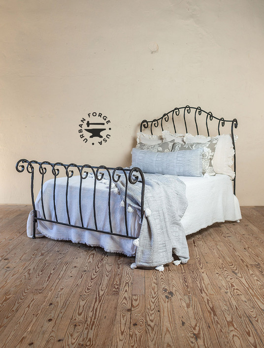 Whispering Springs Wrought Iron Sleigh Bed