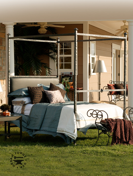 Blackwell Hand-Forged Iron Canopy Bed