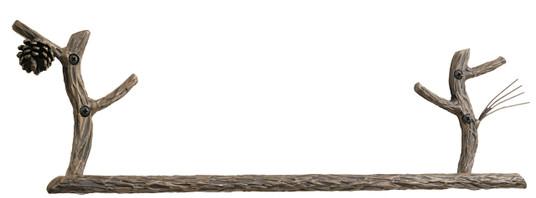 Evergreen Iron Towel Bar 24 inch