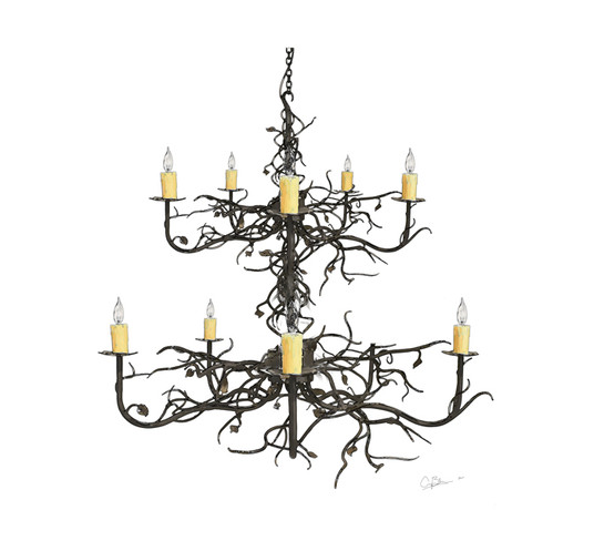 Custom 2 Tier Violet Hill Chandelier