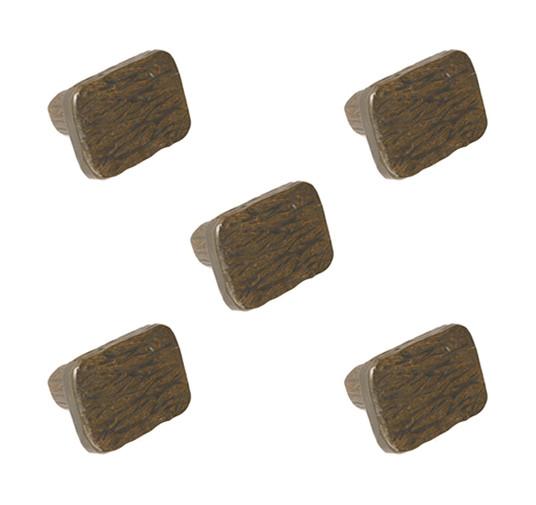 Huntington Iron Drawer Knob- 5 Piece Set