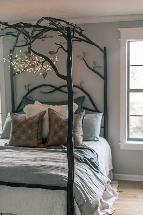 Canopy Bed.Elm Springs Wrought Iron Canopy Bed