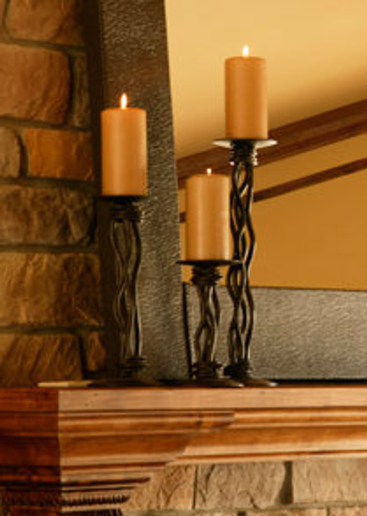 Black River Iron Renaissance Single Candle holder 16 inch