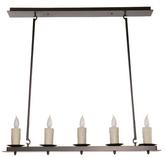 Waldron Linear 5 Light Iron Chandelier
