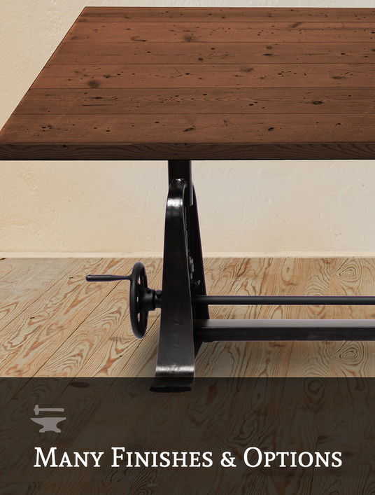 Inventor Crank Adjustable Drafting Table