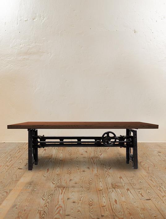 Mechanic Crank Adjustable Coffee Table