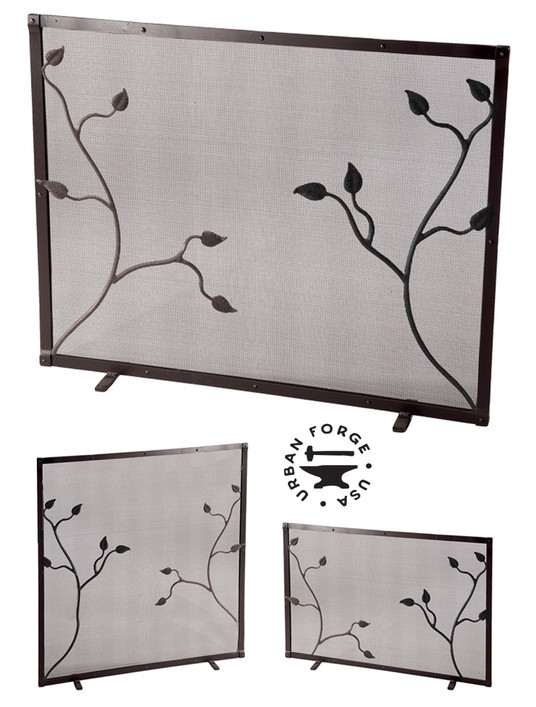 Custom Size Fair Oak Fire Screen
