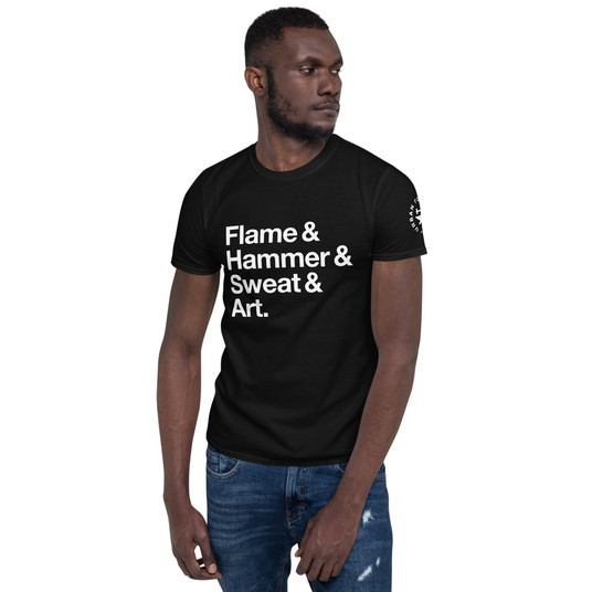 Flame, Hammer, Sweat, Art Urban Forge Short-Sleeve Unisex T-Shirt