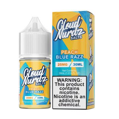Cloud Nurdz Salts E-liquid Peach Blue Razz 30mL