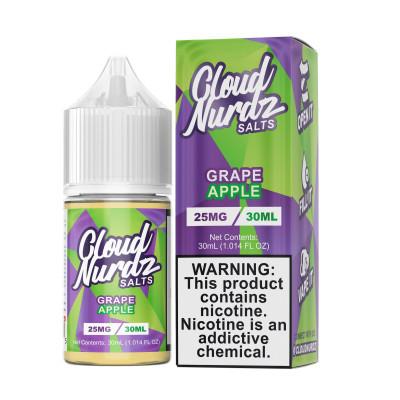 Cloud Nurdz Salts E-liquid Grape Apple 30mL