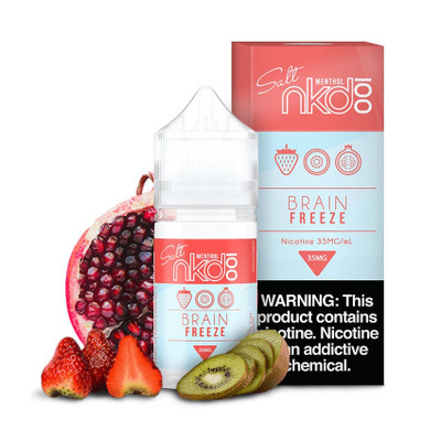 Naked 100 Strawberry Pom AKA Brain Freeze Nic Salt 30ml