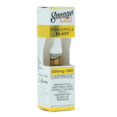 Savage Pineapple Blast CBD Cartridge 500mg