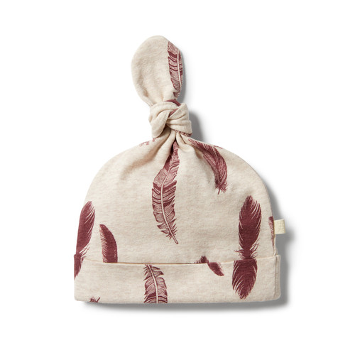 Wilson and Frenchy - Organic Knot Hat - Falling Feathers