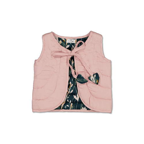 Burrow and Be - Girls Vest - Flux/Dusty Rose