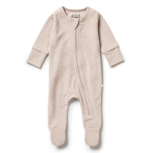 Wilson and Frenchy - Organic Terry Zipsuit - Clay