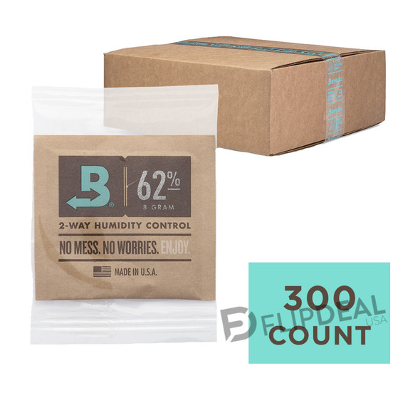 Boveda 8 Gram 62% Humidity 300 Count