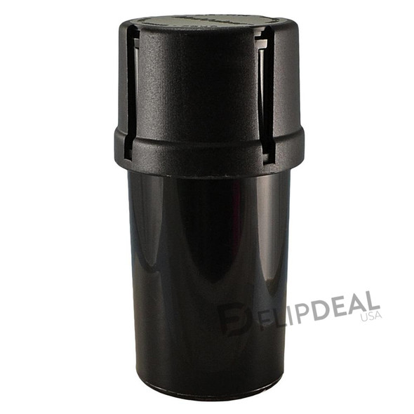 MedTainer Storage Container w/ Built-In Grinder - Black