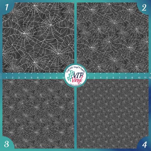 Wispy Spiderwebs Halloween Pattern HTV Vinyl - Outdoor Adhesive Vinyl or Heat Transfer Vinyl