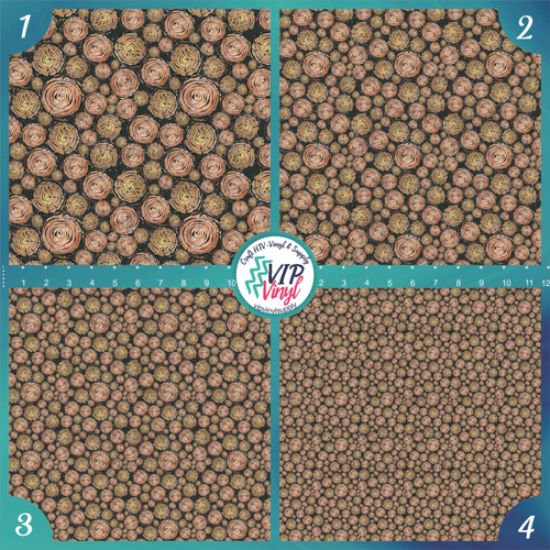 Woodland Christmas Logs Pattern HTV Vinyl - Outdoor Adhesive Vinyl or Heat Transfer Vinyl