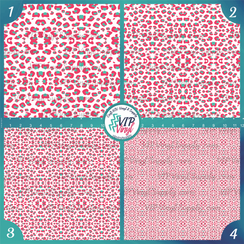 White Pop Leopard Pattern HTV Vinyl - Outdoor Adhesive Vinyl or Heat Transfer Vinyl