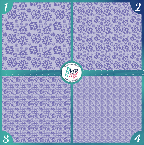Purple Snowflakes Christmas Holiday Pattern HTV Vinyl - Outdoor Adhesive Vinyl or Heat Transfer Vinyl