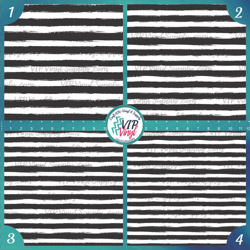 Black & White Paint Stripe Patterned HTV Vinyl - Outdoor Adhesive Vinyl or Heat Transfer Vinyl